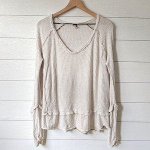 We the Free People Waffle Knit Tunic Top XS
